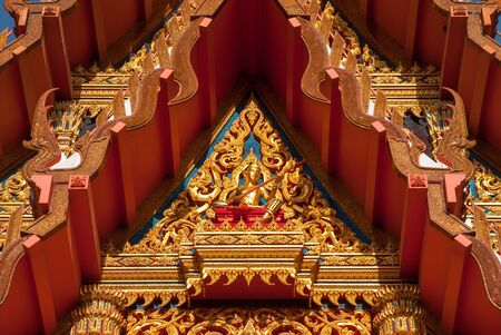 thaiart: A parital gable of ubosot