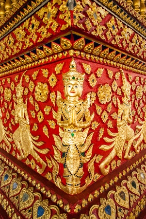 Golden Thai literature image  photo