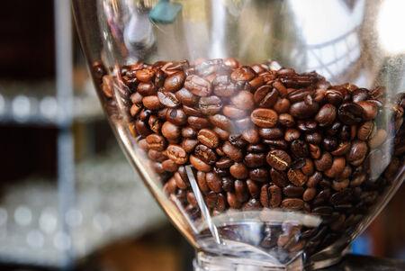 Coffee bean in coffee machine