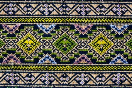 ancient thai woven cloth, pattern1, closeup photo