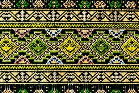 ancient thai woven cloth, pattern1, close photo