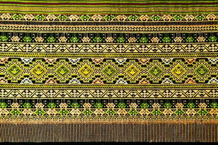 ancient thai woven cloth, pattern1 photo