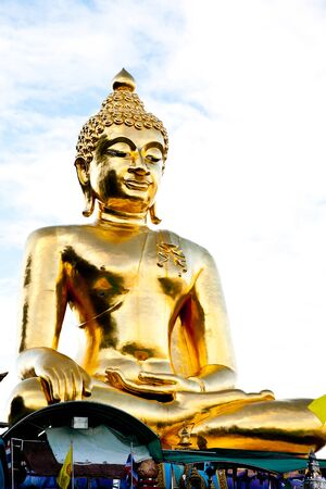 a big golden buddha in the north of thailand Stock Photo - 10296567