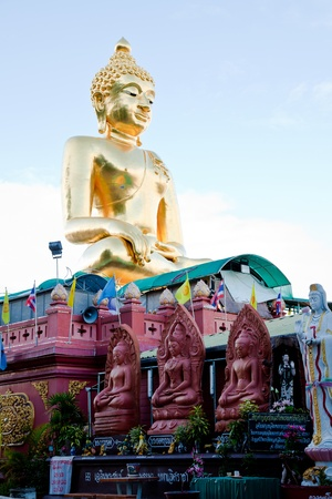 a big golden buddha image at golden triangle, chiangrai, thailand Stock Photo - 10296574