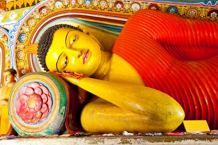 anuradhapura: reclining buddha in isurumuniya temple, anuradhapura, sri lanka