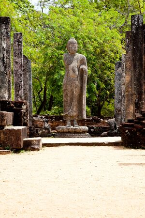 standing buddha in polonnaruwa, sri lanka photo