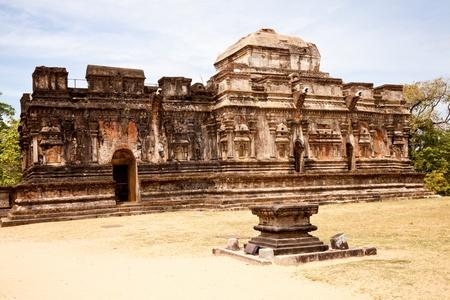 thuparama, buddhist place of worship in the ancient city of polonnaruwa, sri lanka photo
