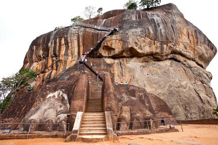 sigiriya: the gate to the top of sigiriya lions rock, sri lanka Stock Photo