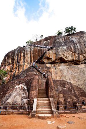 lions gate at sigiriya lions rock, sri lanka photo