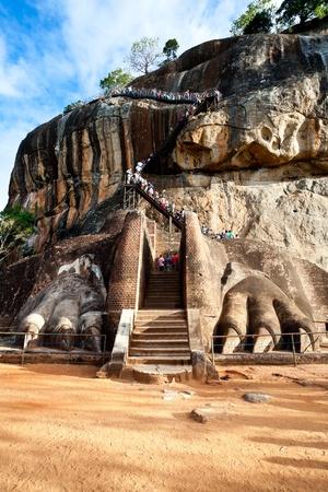 sigiriya: lions paw at sigiriya lions rock, sri lanka Stock Photo