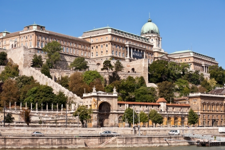 hill of the king: view of buda castle in budapest from danube rive Editorial
