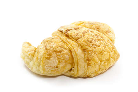 fresh croissant isolated on white background photo