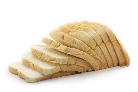 sliced bread on white background  photo