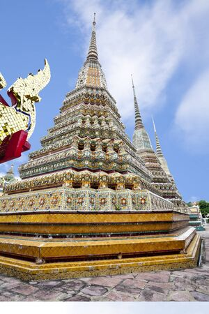 pagoda in wat pho, bangkok, thailand photo