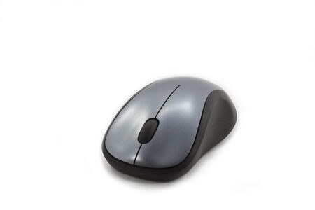 Top View Of Wireless Computer Mouse Stock Photo, Picture And Royalty ...