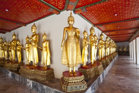 buddha image in wat pho, bangkok, thailand photo