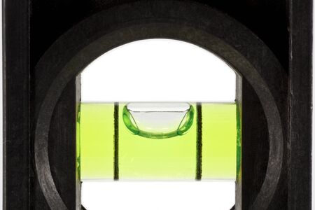 green bubble level Stock Photo - 13086323