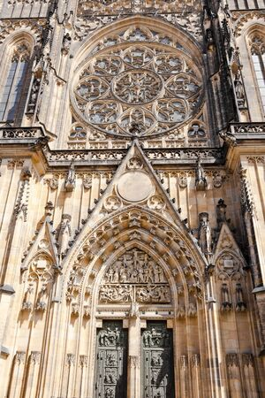 saint vitus cathedral facade, prague, czech republic Stock Photo - 13567901