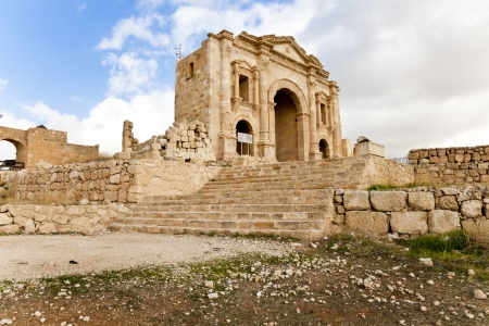hadrian: the arch of hadrian in ancient jerash, jordan