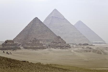 pyramide egypte: les grandes pyramides de Gizeh Banque d'images