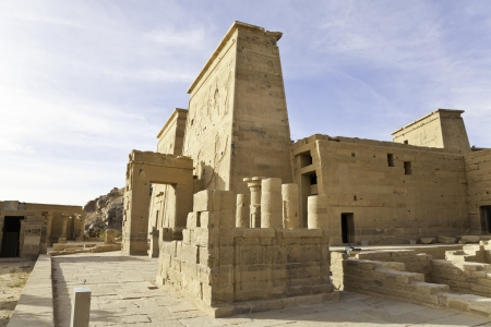 philae temple of isis, aswan, egypt photo