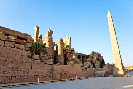 hypostyle hall and obelisk in karnak temple, luxor, egypt Stock Photo - 15744844