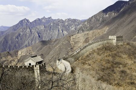 mutianyu: mutianyu great wall in summer, china