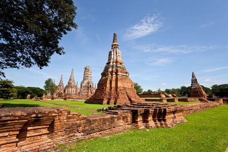 wat chai wattanaram, the historic temple in ayutthaya, thailand photo