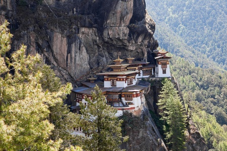 bhutan: taktshang monastery in paro, bhutan Stock Photo