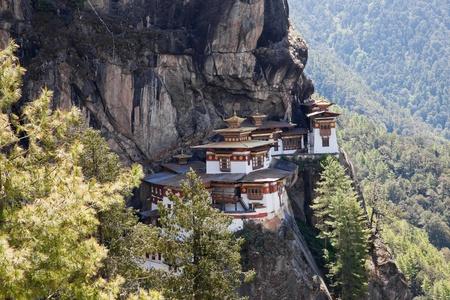 nest: taktshang monastery in paro, bhutan Stock Photo