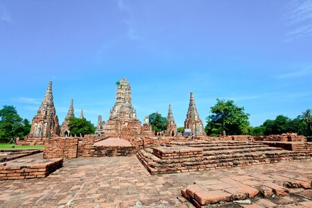 historic temple in ayutthaya, thailand photo