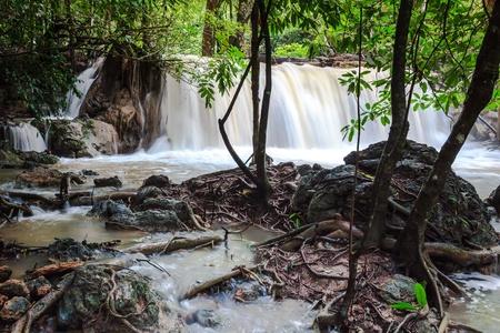 khamin: Huay mae khamin waterfalls Stock Photo