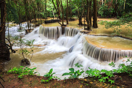 Waterfalls in rain forest, thailand photo