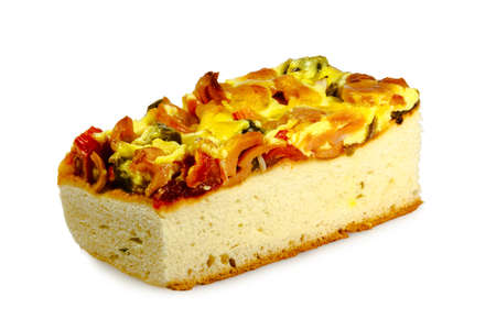 sea food: A piece of thai style sea food pizza