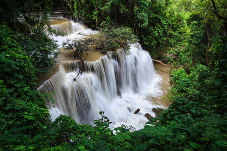 Waterfalls in tropical rain forest photo
