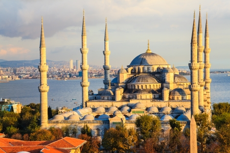 Blue mosque in istanbul, turkey photo