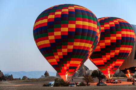 Hot air balloon at cappadocia, turkey