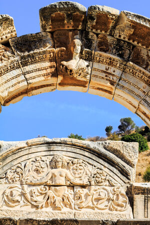 hadrian: Arch of temple of hadrian in ephesus, kusadasi, turkey