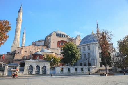 hagia sophia: Hagia sophia in istanbul in the morning Stock Photo