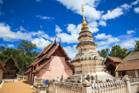 lanna: Ancient lanna style temple in lampang, thailand