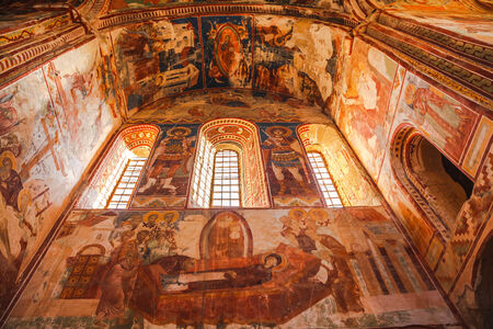 gelati: The beautiful fresco inside the church at Gelati Monastery