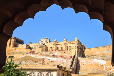 Amber Fort or Amer Fort in Jaipur, Rajasthan state, India
