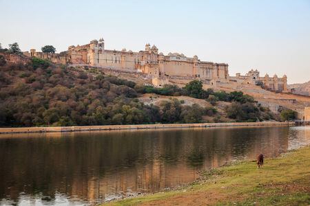 Ancient Amer Fort in Jaipur, Rajasthan, India