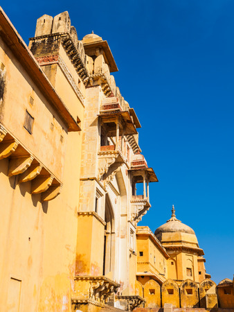 Amer Palace at the ancient Amer Fort in Rajasthan, India