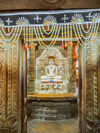 jainism: Jainism God Statue at Jain Temple in Jaisalmer Fort, Rajasthan, India