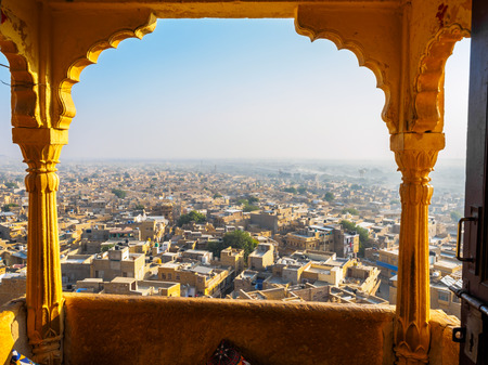 townscape: Townscape view from Jaisalmer Fort, Rajasthan, India