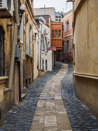 inner city: Alley at Inner City of Baku, Azerbaijan Stock Photo