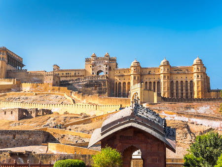 amber fort: Ancient Amber Fort in Jaipur, Rajasthan, India
