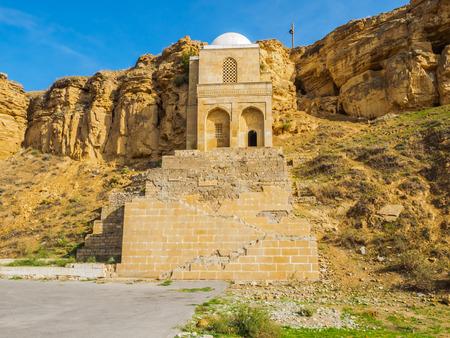mausoleum: Diri Baba Mausoleum in Maraza city of Gobustan Rayon, Azerbaijan