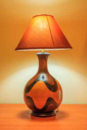 bedside lamp: Bedside Lamp stand on a table